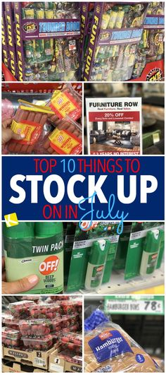 We tell you which things to buy buy buy now so you can stock up in July.
