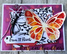 Fabulous Brusho and designer series paper. ! Www.stampingbees.co.nz