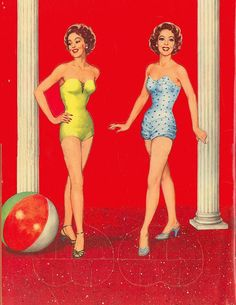 Loretta Young paper dolls and coloring book.