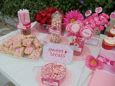 pink baby shower theme sweet treats