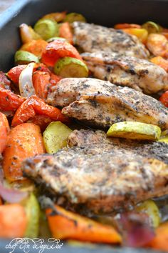 Herbed lemon chicken with roasted vegetables
