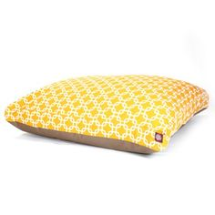 Yellow Links Extra Large Rectangle Indoor Outdoor Pet Dog Bed With Removable Washable Cover By Majestic Pet Products >>> Click on the image for additional details.