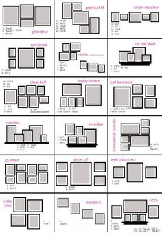 picture frame arrangement ideas