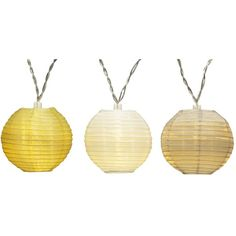 Gold & White Led Lantern String Lights ($10) ❤ liked on Polyvore featuring home, outdoors, outdoor lighting, outdoor light string, string lights, outdoor string party lights and patio string lights