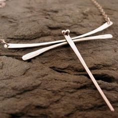 Delicate Sterling Silver Dragonfly Necklace Modern Jewelry Contemporary Designs by SARANTOS on Etsy, $95.00 #SterlingSilverBoho #sterlingsilverjewelrynecklace #sterlingsilverjewelrymodern