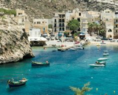 Sail the shores of Xlendi Bay, an inlet of #Malta's secluded Gozo Island.