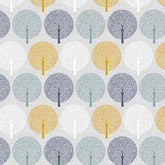 Birdsong - Spot Trees By Joanne Cocker Dashwood Studio Cotton Textile Design, Fabric Design, Studio Weave, Dressmaking Fabric, Fabric Birds, Tree Silhouette, Fabulous Fabrics, Fabric Patterns, Printing On Fabric