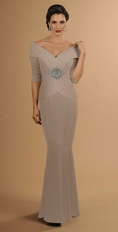Alternate view of the Daymor 610 Off the Shoulder Mother of the Bride Gown image