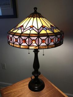 Grape Soda Stained Glass Table Lamp - Light Up Our Gallery Entry - Delphi Artist Gallery Tiffany Lamp Shade, Tiffany Chandelier, Tiffany Lamps, Lamp Light, Light Up, Stained Glass Table Lamps, Lamp Inspiration, Grape Soda, Artist Gallery