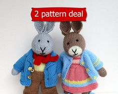Doll, bunny and bear knitting and sewing patterns by dollytime Teddy Bear Knitting Pattern, Crochet Dolls Free Patterns, Knitting Patterns, Sewing Patterns, Bunny And Bear, Bunny Rabbit, Waldorf Dolls, Knitted Dolls, Double Knitting