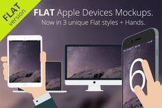 Flat Apple Responsive Devices by RadekBroz on Creative Market