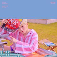 Woozi 'You Make My Day' official photo Set The Sun ver. Jeonghan, Wonwoo, Seungkwan, Seventeen Album, Seventeen Woozi, Dino Seventeen, Make My Day, You Make Me, Hip Hop