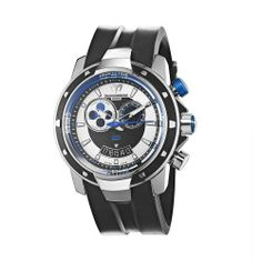 TechnoMarine Men's 609027 UF6 Tide Black and Blue Dial Watch TechnoMarine. $1395.00. Water-resistant to 330 feet (100 M). Moon phase 45 mm black and blue dial. Black rubber strap. Black PVD bezel and stainless Steel case. Hour, minute, second, date, tide display