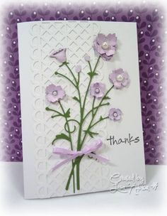 Bella Bouquet by Lisa Ku - Cards and Paper Crafts at Splitcoaststampers  NOTE THE TRELLIS, MADE FROM MS EDGE PUNCH