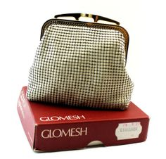 """Glomesh Coin Purse in Original Box - Glomesh Change Purse. I had one of these in my teens and used it when I """"""""went out"""""""" My Youth, Change Purse, Old Tv, My Memory, The Good Old Days, My Images, Fashion Bags, Childhood Memories, Coin Purse"""