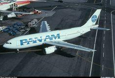 "Pan American World Airways Airbus A300B4-203 N860PA ""Clipper Fair Wind"" approaching the WorldPort at New York-JFK, circa April 1997. (Photo: Joe Pries)"