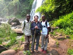 Here is one of our volunteers with her Tanzanian guides