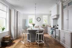 A beautiful In-frame bespoke kitchen design from Heathfield. From Jones Britain's exclusive range of furniture. Come in & visit the showroom to start your new project. Bespoke Kitchens, East Sussex, Showroom, Britain, Kitchen Design, Range, Interiors, Cook, Furniture