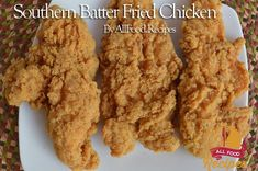 Southern Batter Fried Chicken This recipe reminds me of KFC, but way, way better. And is it easy to make? Yep, it's as easy as sliding off a greasy log backward. I found this recipe by looking online for the ultimate fried chicken breading. I think I have found the holy grail of fried chicken breading/batter. The flavors just pop out! You can find the original recipe here. Ingredients: 2 beaten egg 1 cup milk 2 teaspoon paprika 1/2 teaspoon poultry seasoning 4 teaspoons garlic salt 2…