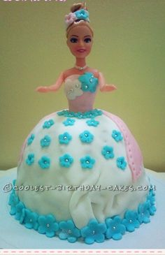 Coolest Fondant Barbie Doll cake... This website is the Pinterest of birthday cake ideas