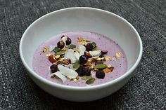 Pink berries Yogood smoothie bowl Pink berries smoothie from sheep yoghurt Yogood as a high fibre and protein-rich breakfast or a bigger snack 😉