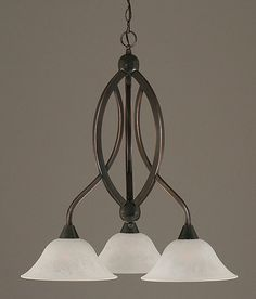 Mini Chandelier w 10 in. White Marble Glass Shades - http://chandelierspot.com/mini-chandelier-w-10-in-white-marble-glass-shades-543996160/