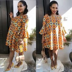 Lovely Ankara Flare Gown Styles for All Ladies to Slay.Lovely Ankara Flare Gown Styles for All Ladies to Slay Short African Dresses, African Print Dresses, African Print Fashion, African Fashion Dresses, Africa Fashion, Ankara Fashion, Trendy Ankara Styles, Ankara Dress Styles, Ankara Tops
