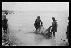 Fisherman Toiling with the Nets on the Sea of Galilee