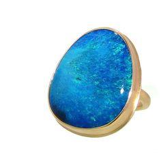 Jamie Joseph Large Australian Opal - 14 Karat ($4,840) ❤ liked on Polyvore
