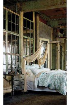 Shabby chic bedroom.   Wow!!!!! by buffylynn