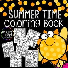 Enjoy this free Summer Time Coloring Book! Print all or some of the pages for your kiddos (or even yourself if you need a stress-free coloring session!) Made by Creative Clips Clipart