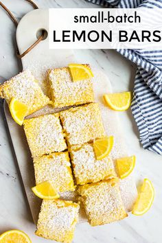 Best ever lemon bars recipe! Small batch lemon bars made in a bread loaf pan. Best ever lemon bars recipe! Small batch lemon bars made in a bread loaf pan. Lemon Dessert Recipes, Lemon Recipes, Sweet Recipes, Easy Recipes, Cupcake Recipes, Bread Recipes, Small Desserts, Desserts To Make, Delicious Desserts