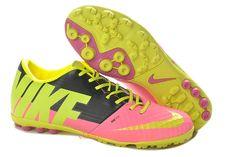 huge discount 28a26 341e5 Nike Elastico Finale II TF Soccer Shoes 2013 Pink Yellow Green Black