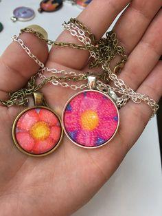 Flower necklace  Amandabachmanart on Etsy