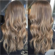 Natural soft blonde balayaged highlights on dark blonde / light brown hair Blonde Light Brown Hair, Natural Dark Blonde, Dark Blonde Balayage, Soft Blonde Hair, Thick Hair, Blonde Brunette, Natural Balyage, Blonde To Brunette Before And After, Light Brunette Hair