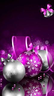 Wallpaper… By Artist Unknown… - Halloween Wallpaper Purple Christmas, Modern Christmas, Scandinavian Christmas, Beautiful Christmas, Christmas Bulbs, Christmas Crafts, Coastal Christmas, Halloween Wallpaper, Christmas Wallpaper