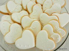 Chocolate Butter, Chocolate Icing, Chocolate Cookies, Heart Cookies, Sugar Cookies, Cookies Et Biscuits, Baking Cookies, Cake Cookies, Wedding Dress Cookies