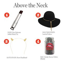 Head to Toe Halloween Fashion: Above the neck. vanmag.com for details.