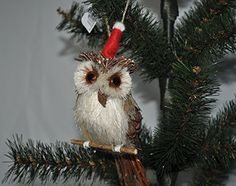 1 Owl ^^^ Holiday Lane Natural Buri Owl Christmas Tree Ornament NEW ** Want additional info? Click on the image. (This is an affiliate link) #KidsPartySupplies