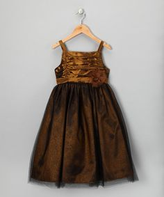 Take a look at this Copper Shimmer Overlay Lucy Dress - Girls by Dorissa on #zulily today!