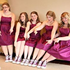 Converse for my bridesmaids, but in blue! And if I can get bridesmaids written on the converse.