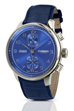 Christopher Ward 's C9 Harrison Blue Automatic Chronograph (article/pics http://watchmobile7.com/data/News/2012/September/news-20120920-Christopher_Ward_C9_Harrison_Blue_Automatic_Chronograph.html) (1/2)