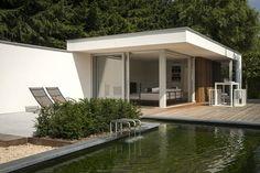 Modern poolhouse met sauna | Bogarden