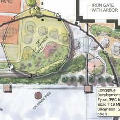 Color plan view - landscape design | Chris Heiler