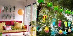 Dekorationen Für Haus Garten-Sommerliches Flair Leuchten Girlande
