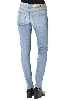 Aggressive Salopette Donna Jumpsuits & Rompers Blu Denim Salopette Taglio Skinny Overalls Clothing, Shoes & Accessories