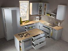 cuisine blanche moderne avec verrière et ilôt central 5 Laurence ...