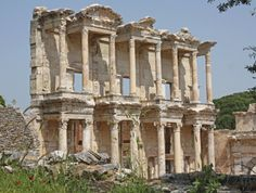 The great Libary of Celsus at Ephesus. Arguably the most impressive Greco-Roman city in the eastern Mediterranean, Ephesus may have had as many as 250,000 inhabitants at its peak in the 2nd century AD. (Traveling aboard Sea Cloud in the Mediterranean.) Photo: Jen Martin©