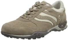 ALLROUNDER by MEPHISTO Women's Montreal Oxford,Taupe Suede/Cool Grey,6.5 M US -- Learn more by visiting the image link.