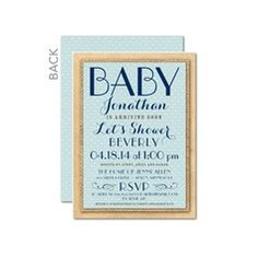 Charming Craft: Powder Blue Boy Baby Shower Invitations